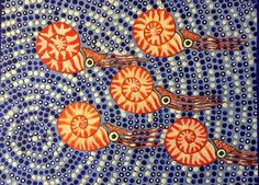Nautilus Aboriginal Style by DutchAngelica on Etsy