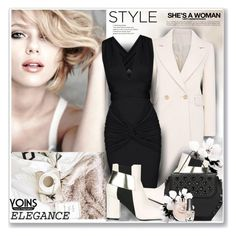 """""""Elegance Yoins"""" by sneky ❤ liked on Polyvore featuring Bobbi Brown Cosmetics, Pollini, Morgan Taylor, yoins, yoinscollection and loveyoins"""