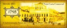Sello: 1748 (Brasil) (350 years Brazilian Post Office) Mi:BR 4060,RHM:BR C-3251