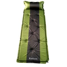 Sleeping Pad, Rodzon Self-Inflating Waterproof Lightweight Splicing Sleeping Pad with Pillow, Air Inflatable Camping Mat for Travel, Camping, Hiking and Outdoor Activities (Green+Dark Grey). 【Easy Inflating 】No bumps needed! Roll out the sleeping pad and twist off the black valve at the bottom of the pad. Our Rodzon sleeping pad will automatically inflate within 90 seconds. The size is 75.6*26*1.2inches. 【Comfortable, Durable and Abrasion Resistant】1.2 inches thickness is designed to seek…