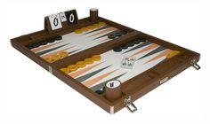"22"" mustard backgammon board"