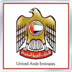 Acrylic Fridge Magnet: United Arab Emirates. Coat of Arms of United Arab Emirates