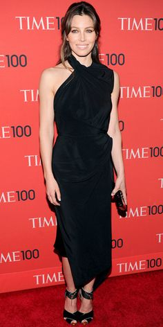 At the Time 100 Gala, Jessica Biel was elegant in a sculpted LBD and sleek accessories to match.