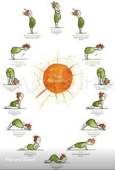 Sun salutation #yogaeverydamnday