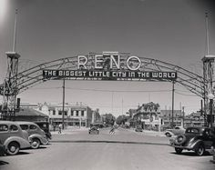 The Reno Arch in the late 1930s