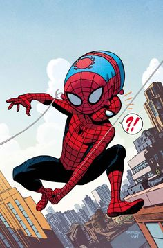 #Spiderman #Fan #Art. (AMAZING SPIDER-MAN #16 MARVEL TSUM TSUM TAKEOVER VARIANT Cover) By: CHRIS SAMNEE. ÅWESOMENESS!!!™ ÅÅÅ+