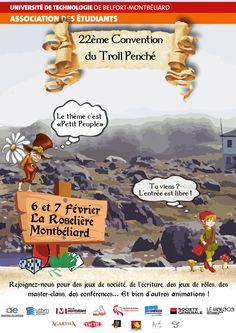 Les 6 et 7 février à Montbéliard : participez à la 22e convention du Troll Perché. Troll, Movie Posters, Board Games, Film Poster, Film Posters