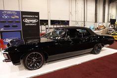 Gorgeous '67 Triple Black Chevy Impala Resto-Mod Roadster @ SEMA Show 2011