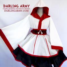 Assassin's Creed Ezio Altair Cosplay Kimono Dress Wa Lolita Skirt Accessory   Darling Army
