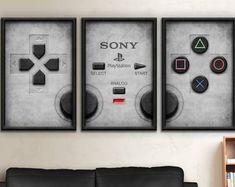 Playstation One Two Three Four Art Boys Game Room, Boy Room, Kids Room, Video Game Bedroom, Video Game Rooms, Game Room Decor, Teen Room Decor, Room Ideias, Gamer Bedroom