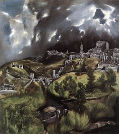 """A View of Toledo,"" El Greco, 1597-99 (ooc, mannerism)"