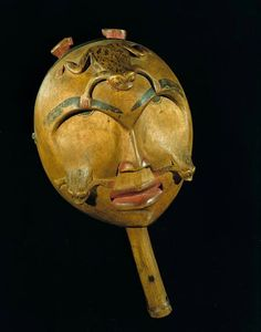 Tsimshian frog rattle. Before 1870s. Smithsonian collection. @cargocultist