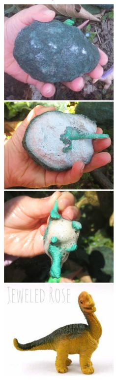 MAGIC hatching dinosaur eggs- these are so easy to make and my kids were in awe!  We will be making these again and again!
