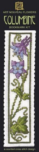 Textile Heritage Columbine Counted Cross Stitch Bookmark Kit