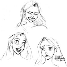 Rapunzel Designs by Glen Keane So, yeah, Glen Keane is leaving Disney Animation. I am unhappy that he's leaving, knowing how much he has influenced Disney movies, especially Tangled. Disney Sketches, Disney Drawings, Cartoon Drawings, Cool Drawings, Drawing Faces, Drawing Disney, Tangled Drawing, Drawing Hair, Character Design Cartoon