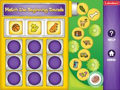 Awesome FREE iPad app for beginning sounds. Use in small groups or centers.