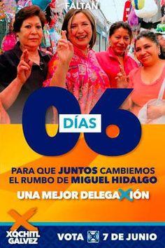 En 6 días tu voto hará el cambio que #MiguelHidalgo se merece. Este 7 de junio #VotaPAN por una #MejorDelegaXión