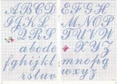 Thrilling Designing Your Own Cross Stitch Embroidery Patterns Ideas. Exhilarating Designing Your Own Cross Stitch Embroidery Patterns Ideas. Cross Stitch Alphabet Patterns, Embroidery Alphabet, Cross Stitch Letters, Cross Stitch Charts, Cross Stitch Designs, Stitch Patterns, Letter Patterns, Alphabet Cursif, Cursive Alphabet