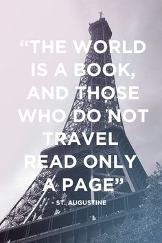 Travel Quote - The world is a book, and those who do not travel read only a page