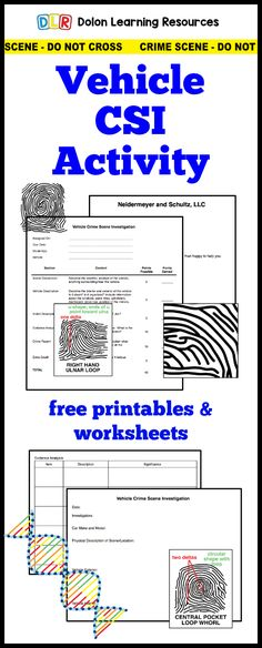 free forensic science activity with worksheets