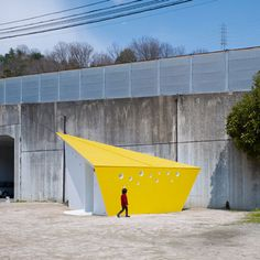 This colourful series of public toilets recently completed by Japanese architects Future Studios in Hiroshima have been designed to resemble origami cranes.