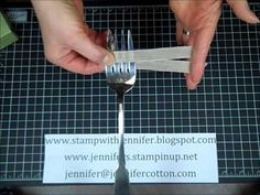 How to make a Fork Bow with Stampin' Up!