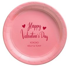 Happy Valentine's Day Paper Plates