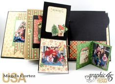 Past Christmas Mini Album, St. Nicholas, By Magda Cortez, Product By Graphic 45, Photo 12 of 14, Project with Tutorial