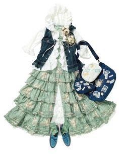Mori Girl Fashion, Funky Fashion, Kawaii Fashion, Lolita Fashion, Cute Fashion, Asian Fashion, Mori Style, Up Costumes, Japanese Streets