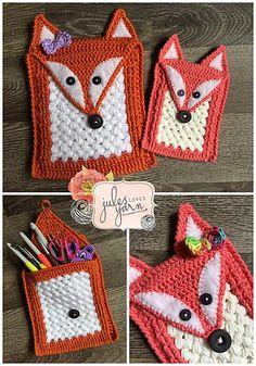 Ravelry: The Foxy Pouch Crochet pattern by Julie Schappert