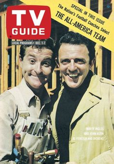 TV Guide, December 1, 1962 - Marty Ingles and John Astin as Fenster and Dickens