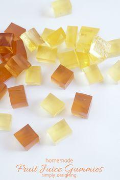 Homemade Fruit Juice Gummies - a perfect kids treat