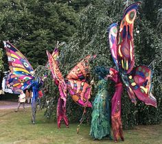 I don't know when this festival happened, but I wish I would have been there! #butterfly #stilts