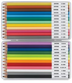 Pantone Universe Colored Pencil Set about 30 dollars for a set of 24