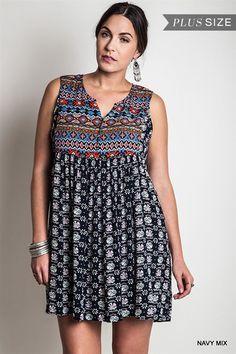 Online Clothing Boutique   Kelly Brett Boutique - Plus Size Babydoll Dress Navy, $38.00 (http://www.kellybrettboutique.com/plus-size-babydoll-dress-navy/)