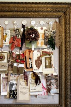 Autumn focus/inspiration board...how cool!  This would be lovely for my Mom for Halloween since it's her birthday....hmmmm