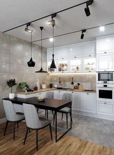 Luxury Kitchen Design, Kitchen Room Design, Luxury Kitchens, Living Room Kitchen, Home Decor Kitchen, Interior Design Kitchen, Kitchen Ideas, Kitchen Inspiration, Tuscan Kitchens