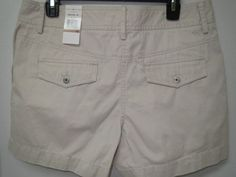 TOMMY HILFIGER Janie Fit Tan Khaki 100% Cotton Shorts Size 12 New NWT Summer #TommyHilfiger #CasualShorts