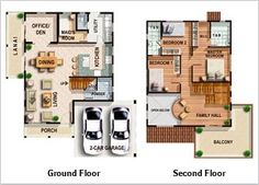 House Design Layout Philippines House Plans And Design House Floor Plans And Designs Free Lay Out And Estimate Philippine Bungalow House Floor Two Storey House Floor Plan Designs Best Small House Designs, Small Modern House Plans, Small House Floor Plans, Cottage Floor Plans, Home Design Floor Plans, Two Storey House Plans, One Storey House, 2 Storey House Design, Modern Bungalow House Design