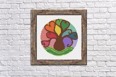 Mandala colorful tree cross stitch pattern Buy 1 by StitchLandShop
