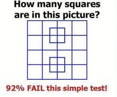 How Many Squares? Fun brain teaser !!