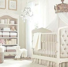 White curtains in a baby's room