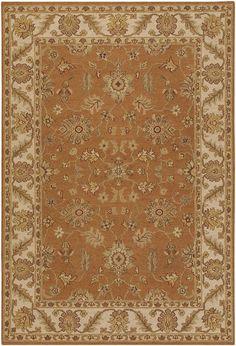 Orange bedroom rug