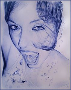 ballpoint pen drawing by Juan Francisco Casas.... WOW!