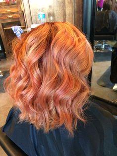 Coral Color Melt. Rose Gold. Pink. Beauty By Allison. Fort Collins Hair. Salon Salon
