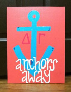 anchor canvas! ⚓I like the saying