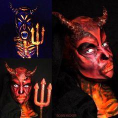Day14 of my #31daysofhalloween #devil  #lava #deamon #sfx #sfxmakeup #scary  #halloween #halloweenmakeup #halloweenmakeupideas #amazing #beautiful  #facepainting #bodypainting #artist #bobbibicker #london