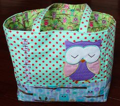 Personalized Owl Bag