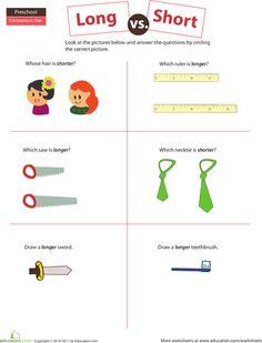 Worksheets: Long or Short?