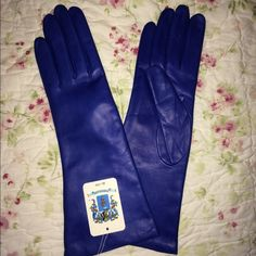 Portolano Leather And Cashmere Gloves-Black Fri Sp